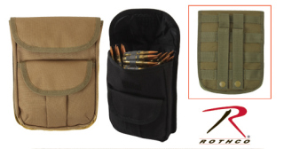 9509_Rothco MOLLE 2 Pocket Ammo Pouch - Black-