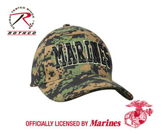 Deluxe Low Pro Cap Woodland Digital - Marines