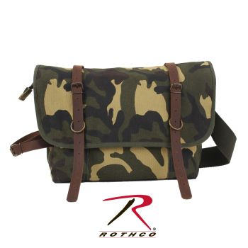 Rothco Vintage Canvas Explorer Shoulder Bag w/ Leather Accents-