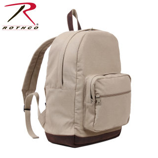 Rothco Vintage Canvas Teardrop Backpack With Leather Accents-