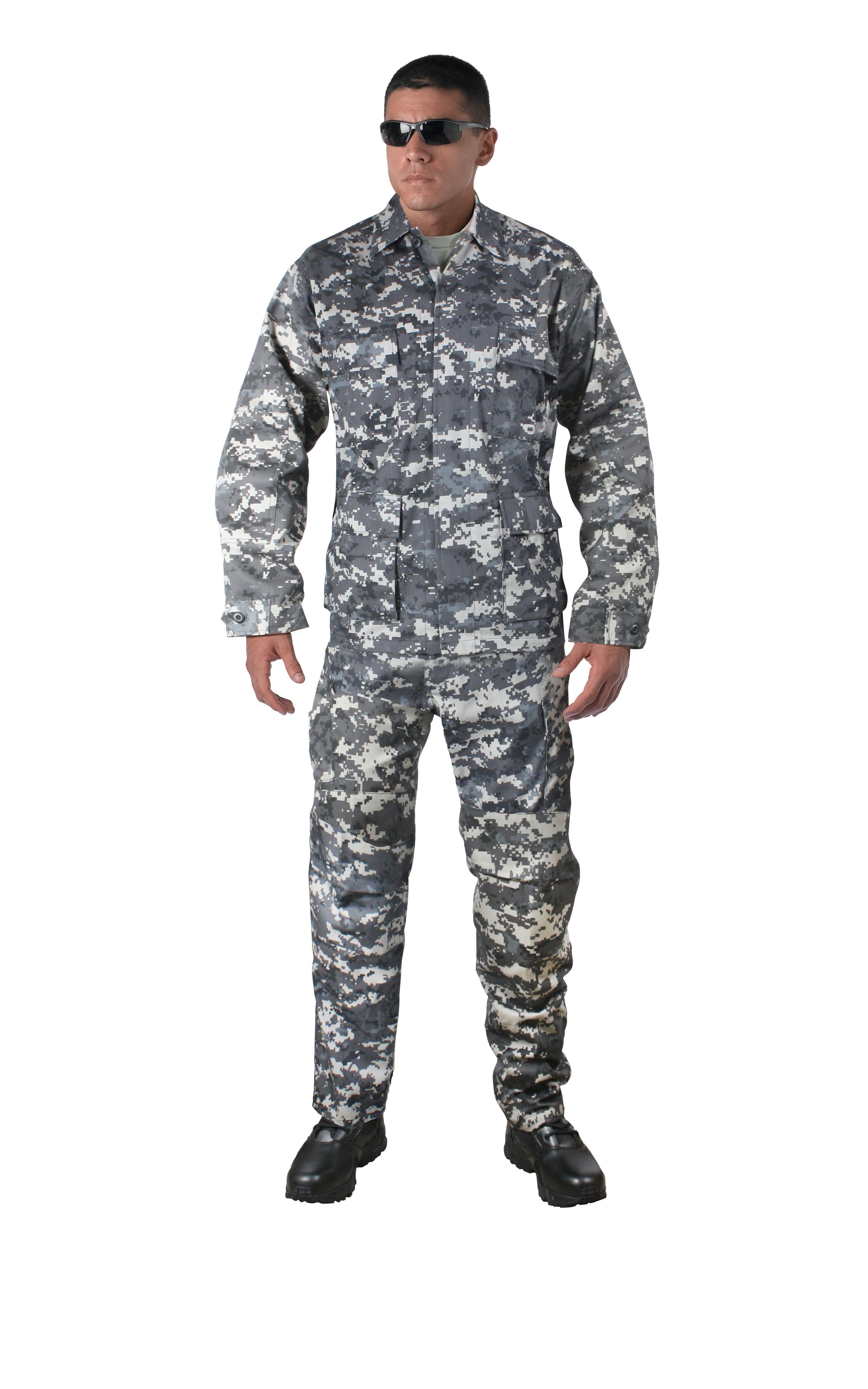 Army Digital Camo BDU Pants Military Fatigues Sky Blue Digital Camo