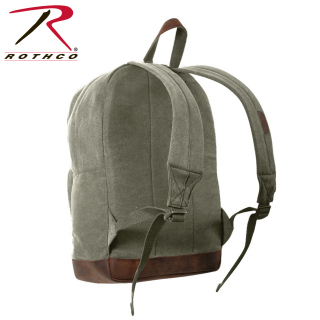 Rothco Vintage Canvas Teardrop Backpack With Leather Accents-Rothco