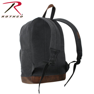 9667_Rothco Vintage Canvas Teardrop Backpack With Leather Accents-