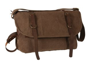 Rothco Vintage Canvas Explorer Shoulder Bag w/ Leather Accents-Rothco
