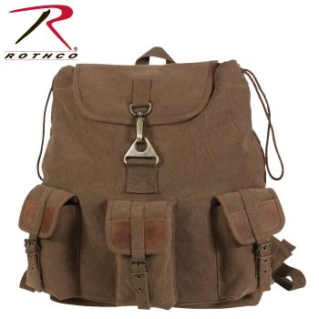 Rothco Vintage Canvas Wayfarer Backpack w/ Leather Accents-Rothco