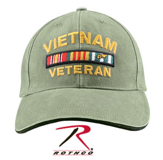 Rothco Vietnam Veteran Deluxe Vintage Low Profile Insignia Cap-Rothco