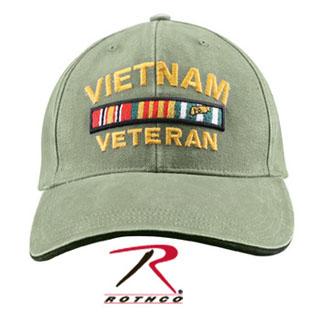 Rothco Vietnam Veteran Deluxe Vintage Low Profile Insignia Cap-