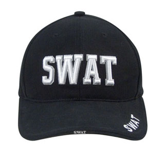 Deluxe Black Low Profile Cap - Swat