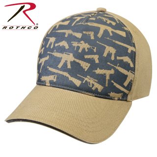 Rothco Deluxe Low Profile Cap / Guns - Khaki