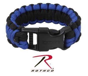 Rothco Deluxe Thin Blue Line Paracord Bracelet-Rothco