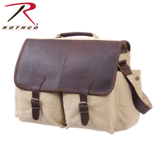 Rothco Vintage Leather Flap Messenger Bag-