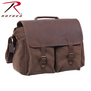 Rothco Vintage Leather Flap Messenger Bag-Rothco