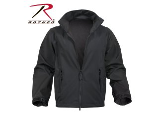 Rothco Black Soft Shell Uniform Jacket-Rothco