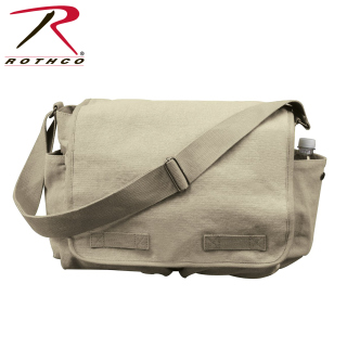 Rothco Vintage Washed Canvas Messenger Bag-Rothco