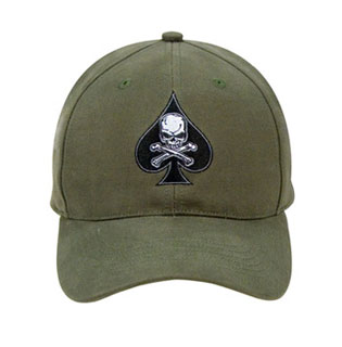 Black Ink Death Spade Low Profile Insignia Cap-Rothco