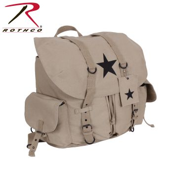 Rothco Vintage Weekender Canvas Backpack with Star-
