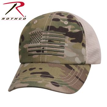 Rothco Tactical Mesh Back Cap With Embroidered US Flag-Rothco