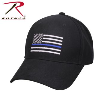 99885_Rothco Thin Blue Line Flag Low Profile Cap-