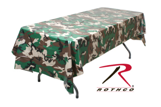 Woodland Camo Tablecloth-Rothco