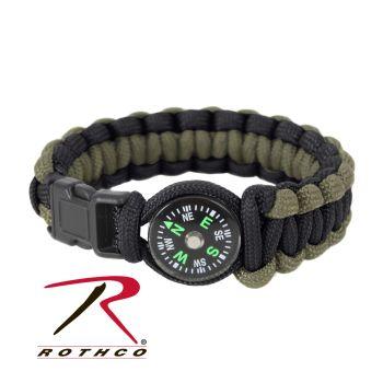 Rothco Paracord Compass Bracelet-