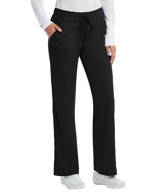 4 Pocket Front Detail Elastic Back Pant