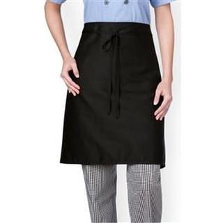 Mid-Length Plain Front Chef Apron [three-Star] (1611)-Chefwear