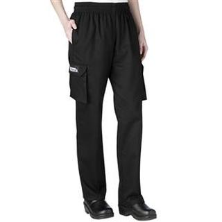 Womens Low Rise Cargo Chef Pants