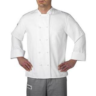 Tall Cloth-Knot Button Chef Jacket [three-Star] (440t)-Chefwear