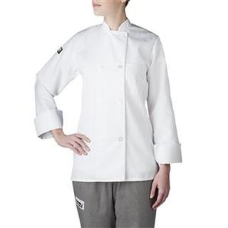 4420 Women's Plastic Button Chef Jacket (Three-Star)