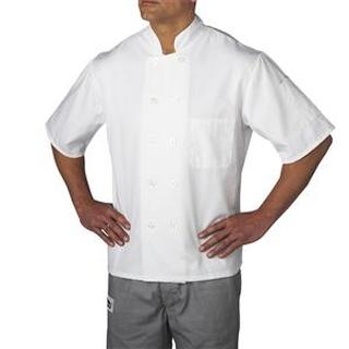 4455 Plastic Button Chef Jacket (Three-Star)-Chefwear