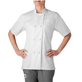 Women's Short Sleeve Chef Jacket (Three-Star)-Chefwear