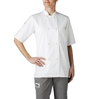 4465 Women's Plastic Button Chef Jacket (Three-Star)