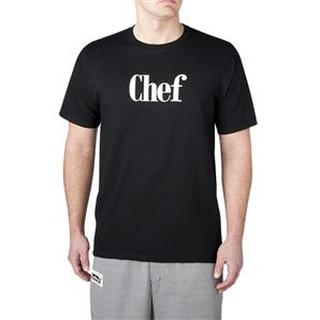 """Chef"" Screen-Printed T-Shirt-"