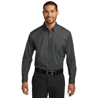 Mens L/S Carefree Poplin Shirt-Chefwear
