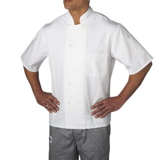 S/S Color Primary Plastic Btn-Chefwear