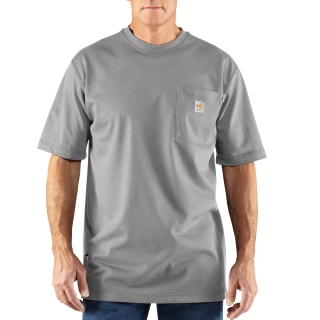 Mens Flame-Resistant Force Cotton Short Sleeve T Shirt-Carhartt