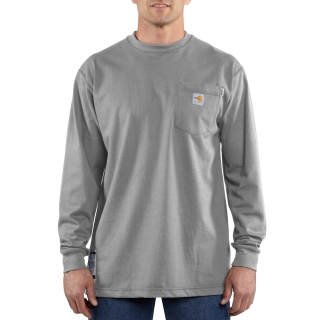 100235 Mens Flame-Resistant Force Cotton Long Sleeve T Shirt-Carhartt
