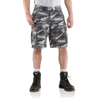 Mens Rugged Cargo Camo Short-