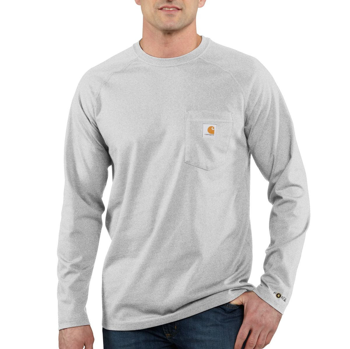Mens Force Cotton Delmont Long Sleeve T Shirt-
