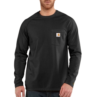 Mens Force Rlxd Fit Midweight Long Sleeve Pocket T-Shrt-