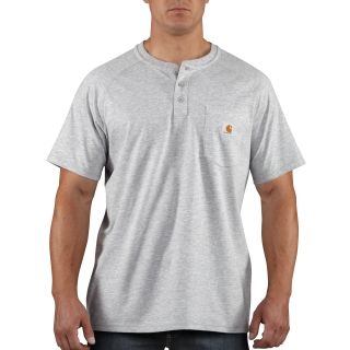 Mens Force Cotton Delmont Short Sleeve Henley-Carhartt
