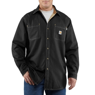 Mens Flame-Resistant Canvas Shirt Jac-Carhartt