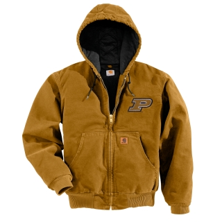 100845 Men's Purdue QFL Sandstone Active Jacket