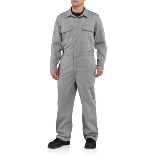 Mens Flame-Resistant Traditional Twill Coverall-