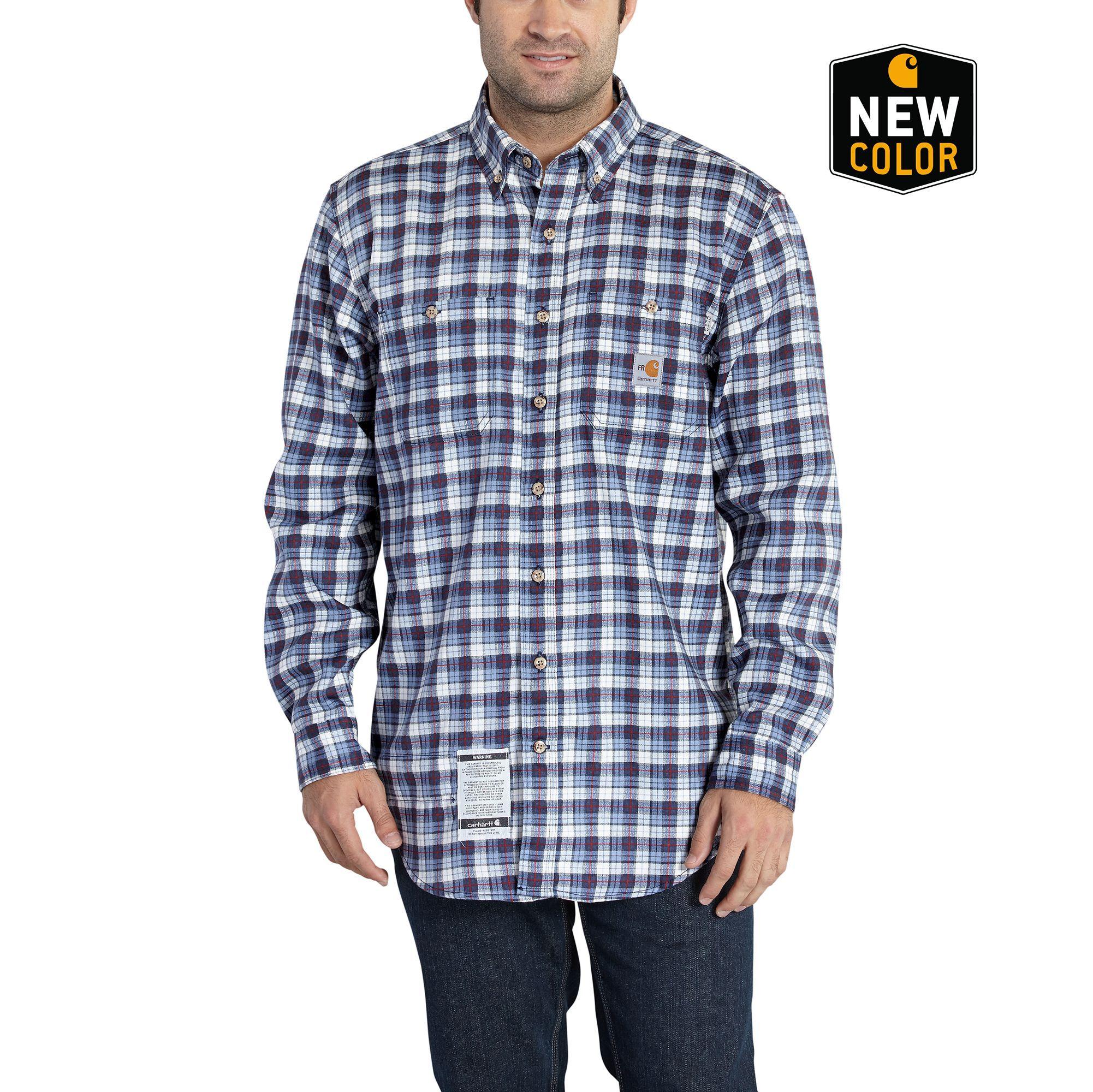 Carhartt - Mens Flame-Resistant Classic Plaid Shirt-Carhartt