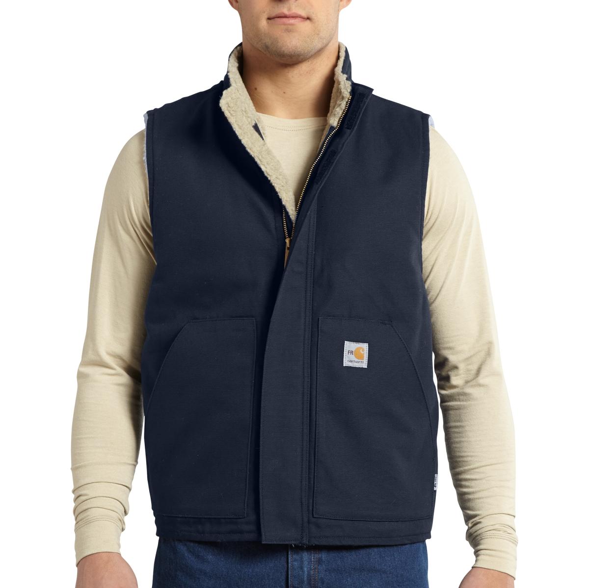 Mens Flame-Resistant Mock Neck Vest-