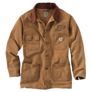 101333 Men's Purdue Weathered Chore Coat