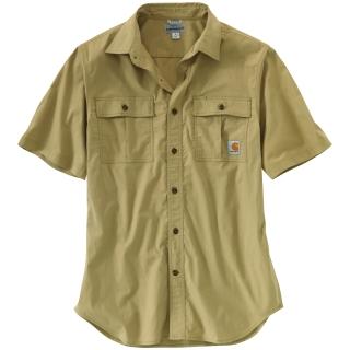 Mens Foreman Solid Short Sleeve Work Shirt