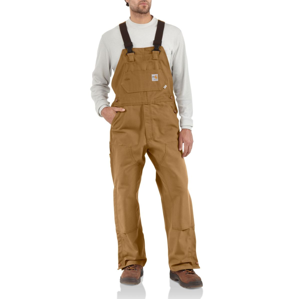 101627 Mens Flame-Resistant Duck Bib Overall-