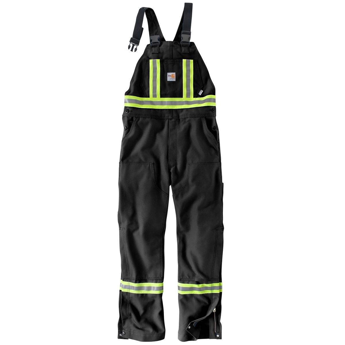 Carhartt - Mens Flame-Resistant Striped Duck Bib Overall-Carhartt
